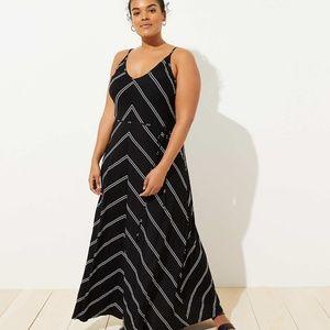 Loft plus chevron strappy maxi dress 20